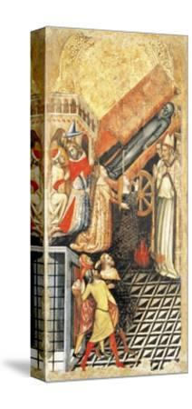 Upper Section, Healing of Sofia, Daughter of Emperor Constantine, at Funeral of Anthony-Vitale da Bologna-Stretched Canvas Print