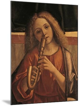 Minstrel Angel, Detail from Presentation of Jesus at Temple-Vittore Carpaccio-Mounted Giclee Print