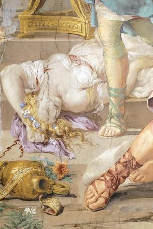 The Iron Age or Rather Uncontrolled Soldiery Hunts and Kills, Detail from Four Ages of Man-Pietro da Cortona-Stretched Canvas Print