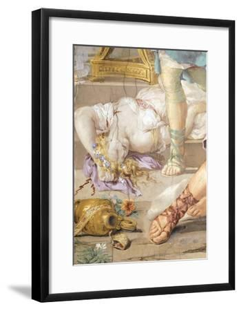 The Iron Age or Rather Uncontrolled Soldiery Hunts and Kills, Detail from Four Ages of Man-Pietro da Cortona-Framed Giclee Print