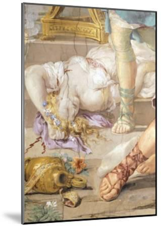 The Iron Age or Rather Uncontrolled Soldiery Hunts and Kills, Detail from Four Ages of Man-Pietro da Cortona-Mounted Giclee Print