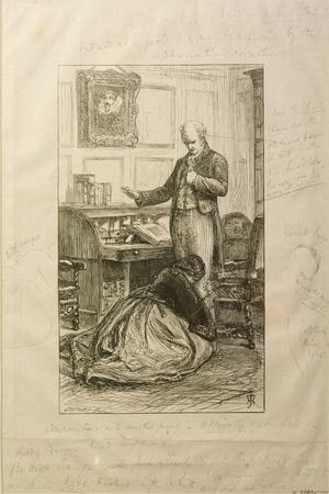 Guilty', Proof of an Illustration to Vol. II of 'Orley Farm' by Anthony Trollope-John Everett Millais-Stretched Canvas Print