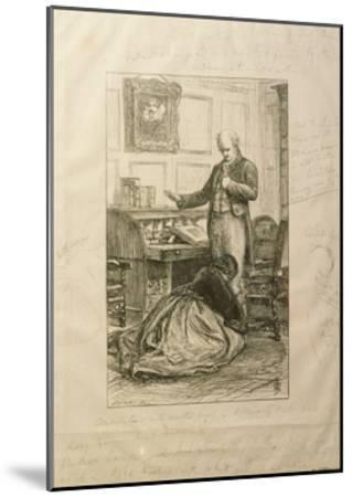 Guilty', Proof of an Illustration to Vol. II of 'Orley Farm' by Anthony Trollope-John Everett Millais-Mounted Giclee Print