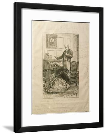 Guilty', Proof of an Illustration to Vol. II of 'Orley Farm' by Anthony Trollope-John Everett Millais-Framed Giclee Print