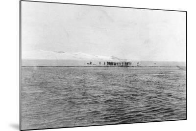 Au Revoir to the Explorers': Shackleton's Last Sight of the 'Discovery' Crew from the 'Morning'--Mounted Photographic Print