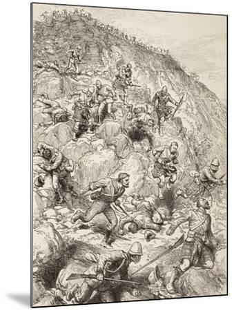 British and Scottish Troops Retreating from the Battle of Majuba Hill During the First Boer War--Mounted Giclee Print