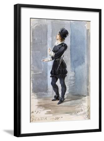Costume Sketch by Alfred Edel for the Role of Gilda in the Fourth Act of Rigoletto--Framed Giclee Print