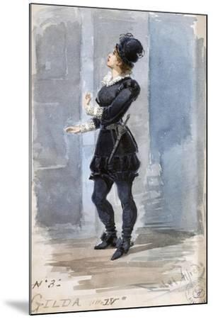 Costume Sketch by Alfred Edel for the Role of Gilda in the Fourth Act of Rigoletto--Mounted Giclee Print