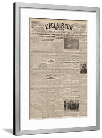 Front Page of 'L'Éclaireur De Nice' Featuring Marcel Duchamp at the French Chess Championship--Framed Giclee Print