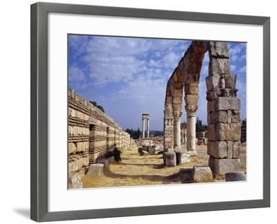 Remains of Portico of Cardo Maximus from Umayyad City Built by Caliph Al-Walid I--Framed Photographic Print