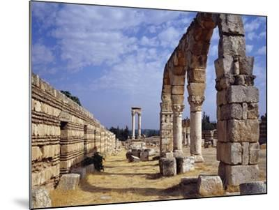 Remains of Portico of Cardo Maximus from Umayyad City Built by Caliph Al-Walid I--Mounted Photographic Print
