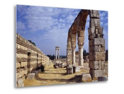 Remains of Portico of Cardo Maximus from Umayyad City Built by Caliph Al-Walid I--Metal Print