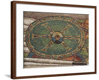 Shield Decorated with a Christological Monogram in Gold with Blue and Green Gems--Framed Photographic Print