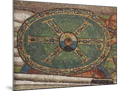 Shield Decorated with a Christological Monogram in Gold with Blue and Green Gems--Mounted Photographic Print