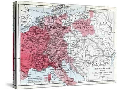 Map Of Central Europe Showing Napoleon S Empire In 1810 Giclee Print