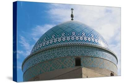 Dome of Shrine of Davazadeh Imam or Maghbareh-Ye Davazdah Emam--Stretched Canvas Print