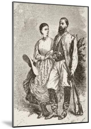 Sir Samuel White Baker and His Second Wife Lady Florence Baker--Mounted Giclee Print