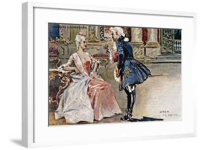 Vintage Postcard Depicting Scene from Second Act of Adriana Lecouvreur--Framed Giclee Print