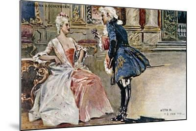 Vintage Postcard Depicting Scene from Second Act of Adriana Lecouvreur--Mounted Giclee Print