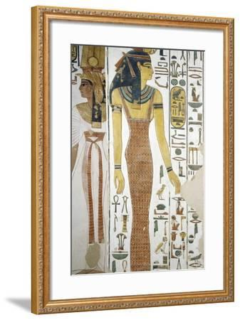Selqet, Detail from the Frescoes in the Burial Chamber of Nefertari--Framed Photographic Print