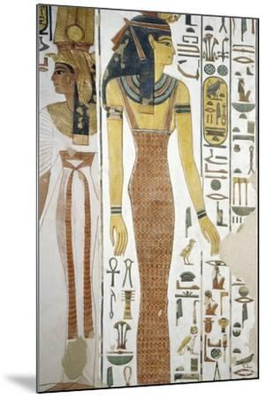 Selqet, Detail from the Frescoes in the Burial Chamber of Nefertari--Mounted Photographic Print