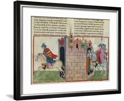 Count Ugolino Della Gherardesca Re-Enters Pisa: Nuro Di Gallura's Escape--Framed Giclee Print