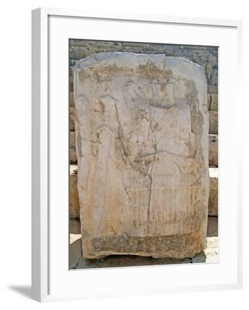 One of the Carved Stones Found in the Roman Theatre of Patara--Framed Photographic Print