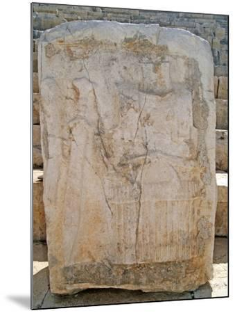 One of the Carved Stones Found in the Roman Theatre of Patara--Mounted Photographic Print
