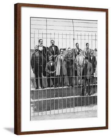 The Defendants in the Trial of Giuseppe De Felice Giuffrida--Framed Giclee Print