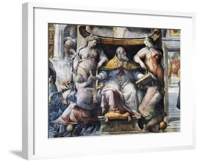 Allegory of Pope Paul III Farnese Between Peace and Fertility--Framed Giclee Print
