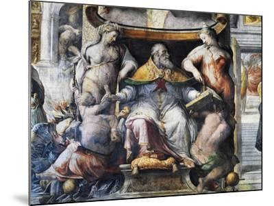 Allegory of Pope Paul III Farnese Between Peace and Fertility--Mounted Giclee Print