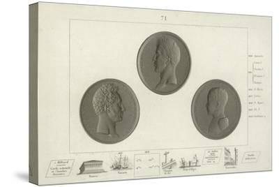 Medallions of Charles X of France and His Son Louis Antoine--Stretched Canvas Print