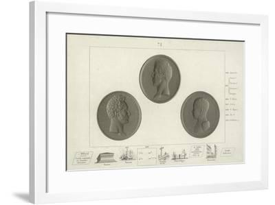 Medallions of Charles X of France and His Son Louis Antoine--Framed Giclee Print