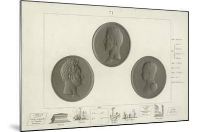Medallions of Charles X of France and His Son Louis Antoine--Mounted Giclee Print