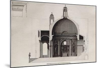Longitudinal Section of Temple of Villa Barbaro in Maser--Mounted Giclee Print
