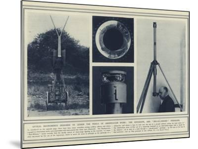 Optical Instruments Designed to Lessen the Perils of Observation Work--Mounted Photographic Print