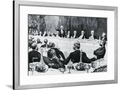 Banquet in Honor of President of Council of Ministers of Kingdom of Italy--Framed Giclee Print