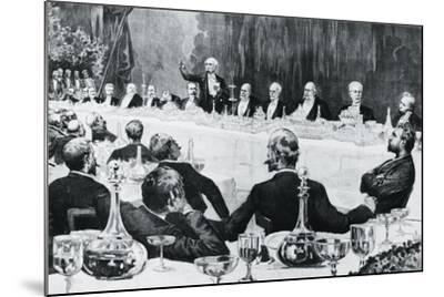 Banquet in Honor of President of Council of Ministers of Kingdom of Italy--Mounted Giclee Print