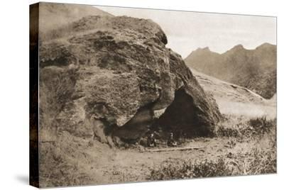 The Cave on Juan Fernandez Island in Which Alexander Selkirk Lived--Stretched Canvas Print