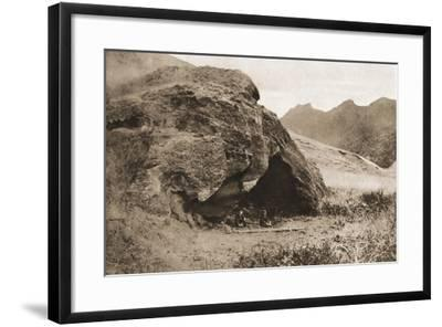 The Cave on Juan Fernandez Island in Which Alexander Selkirk Lived--Framed Giclee Print