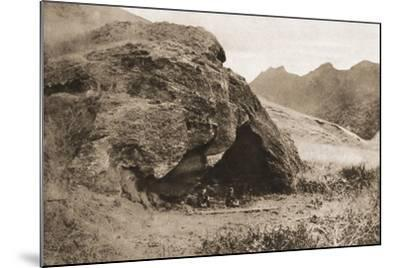 The Cave on Juan Fernandez Island in Which Alexander Selkirk Lived--Mounted Giclee Print