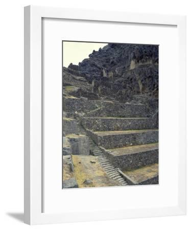 The Staircase Leading to the Fortress in Sacred Valley of Incas--Framed Giclee Print