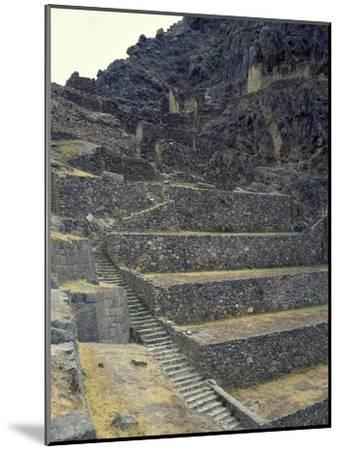 The Staircase Leading to the Fortress in Sacred Valley of Incas--Mounted Giclee Print
