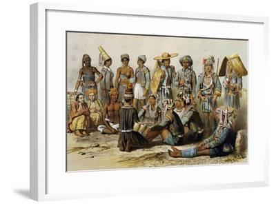 Mixed Populations from Kingdoms of Xieng Tong and Xieng Hong--Framed Giclee Print