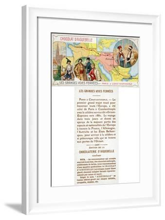The Orient Express Railway Line from Paris to Constantinople--Framed Giclee Print