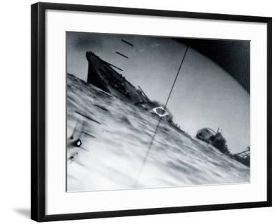 The Torpedoed Destroyer Yamakaze of the Imperial Japanese Navy--Framed Photographic Print