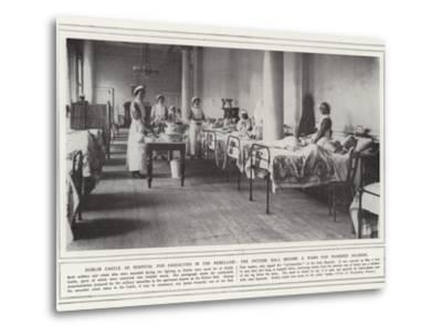 Dublin Castle as Hospital for Casualties in the Rebellion--Metal Print