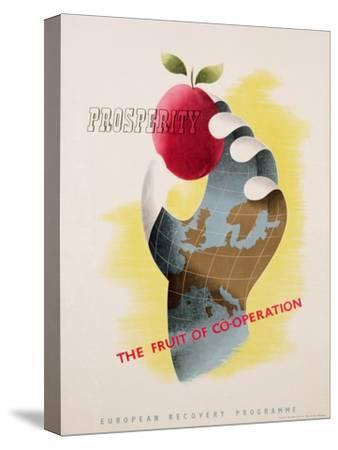 Prosperity - the Fruit of Co-Operation--Stretched Canvas Print