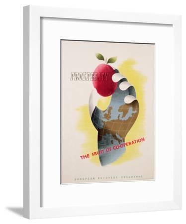 Prosperity - the Fruit of Co-Operation--Framed Giclee Print