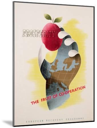 Prosperity - the Fruit of Co-Operation--Mounted Giclee Print